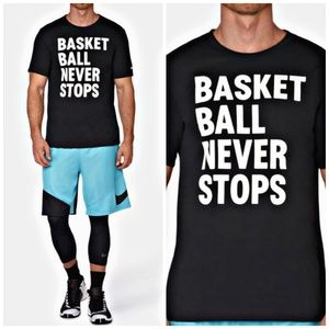 Nike • Dri-FIT BASKETBALL NEVER STOPS Tee • SZ M